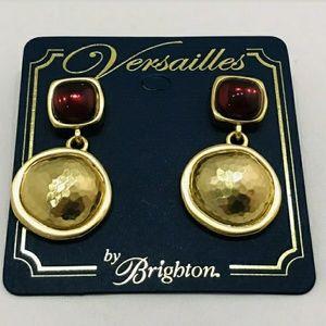 Burgundy Versailles Brighton Post Earrings RETIRED